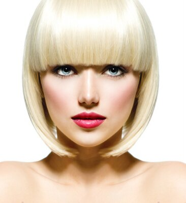 Canvas print Fashion Stylish Beauty Portrait. Beautiful Girl's Face Close-up