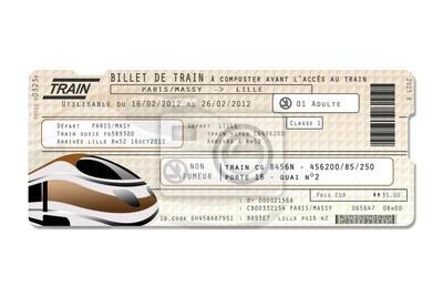 Canvas print Faux billet de train