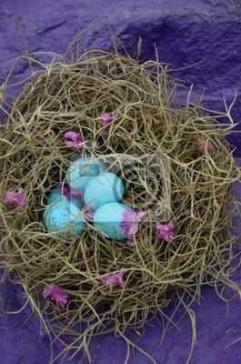 Canvas print Faux Blue Robin Eggs