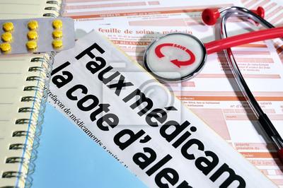 Canvas print faux médicaments en ligne,e-commerce,danger