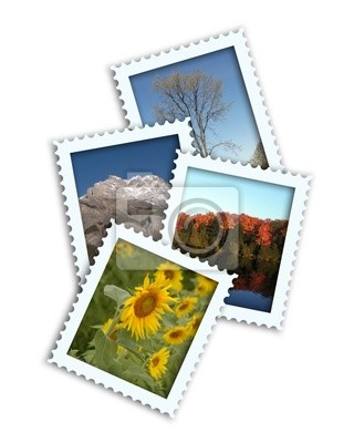 Canvas print Faux Seasonal Postage Stamps