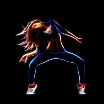 Canvas print Female hip hop dancer