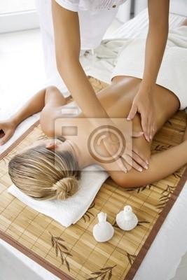 female receiving professional massage