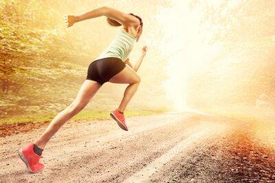 Canvas print Female Runner