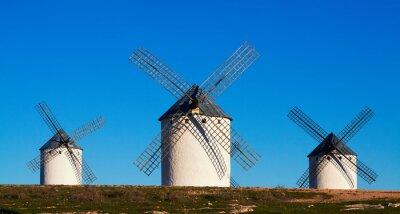 Canvas print Few of  windmills