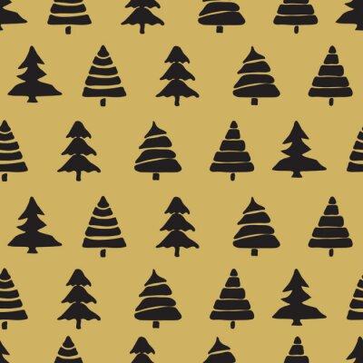 Canvas print Fir tree seamless pattern