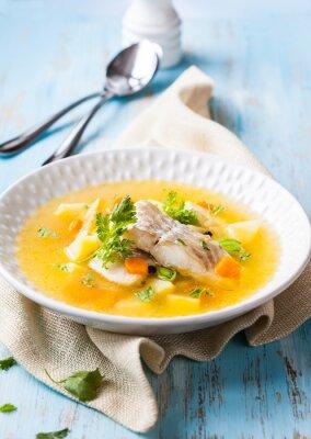 Canvas print Fish soup