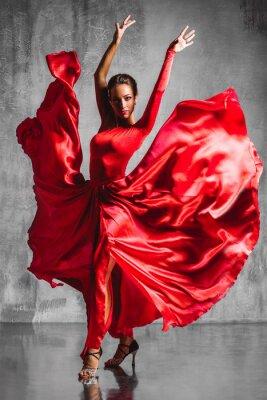 Canvas print flamenco dancer