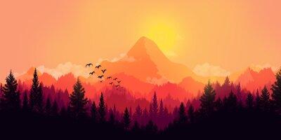 Canvas print Flat landscape