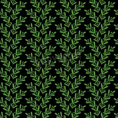 Floral seamless pattern with hand drawn branches