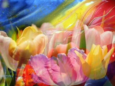 Canvas print Flower-flow