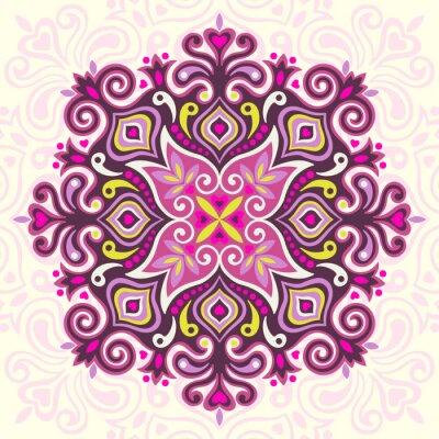 Canvas print Flower Mandala. Abstract element for design