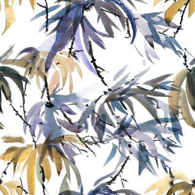 Canvas print Foliate watercolor pattern