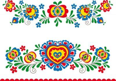 Canvas print Folk ornaments