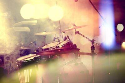 Canvas print  Fondo de la música en vivo. Bateria sobre el escenario.Concierto.