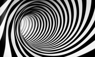 Canvas print Fondo espiral abstracta 3d en blanco y negro