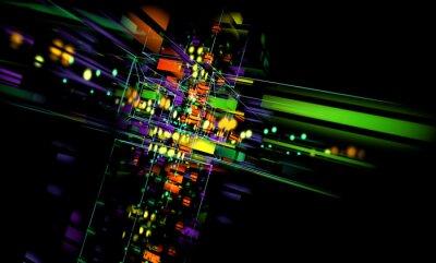 Canvas print fondo tecnologico abstracto.