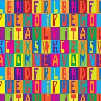 Canvas print Font texture