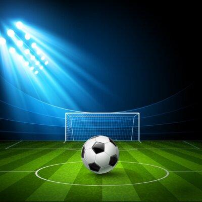 Canvas print Football arena with a soccer ball. Vector