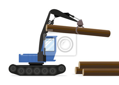 Forestry equipment. Tractor