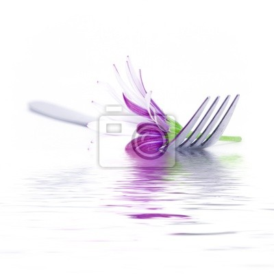 Canvas print Fork and daisy