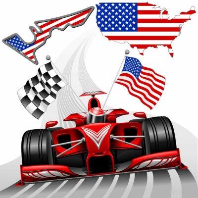 Canvas print Formula 1 Race Car GP Austin USA