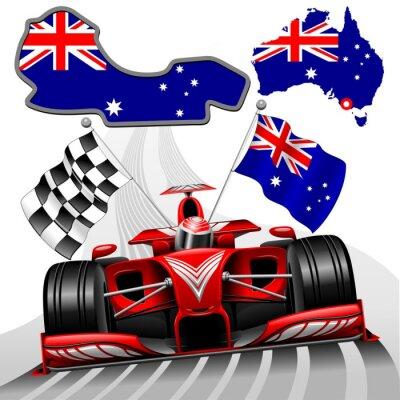 Canvas print Formula 1 Red Race Car GP Australia