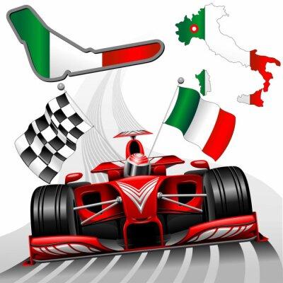 Canvas print Formula 1 Red Race Car GP Monza Italy