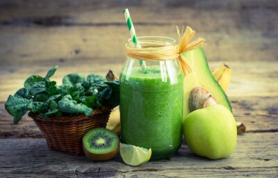 Canvas print Fresh and healthy green smoothie