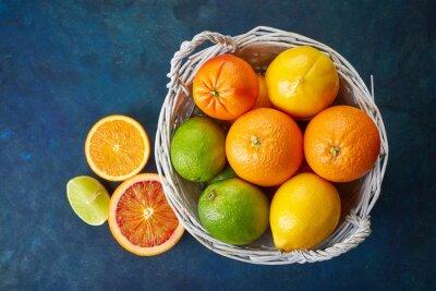 Canvas print Fresh citrus fruits