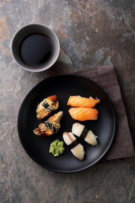 Canvas print  fresh sushi with fish