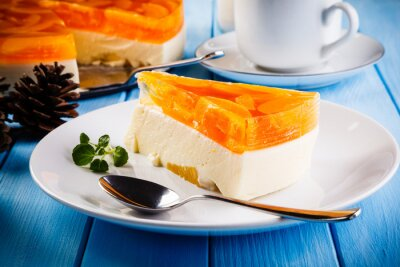 Canvas print Fruit cheesecake