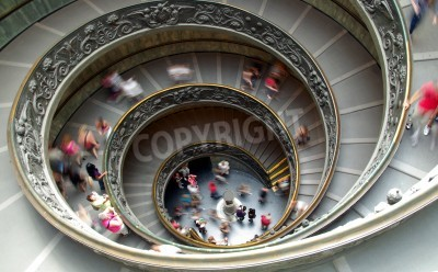 Funny image of a spiral staircase at the Vatican museum
