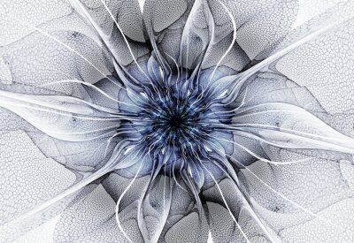 Canvas print Futuristic flower