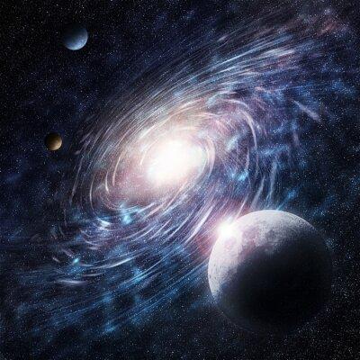 Canvas print galaxy blue creative
