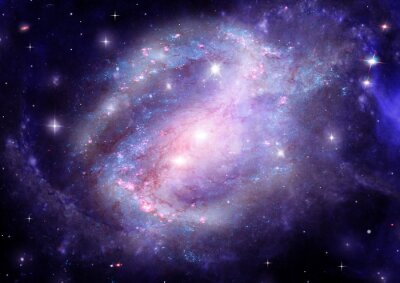 Canvas print galaxy in a free space