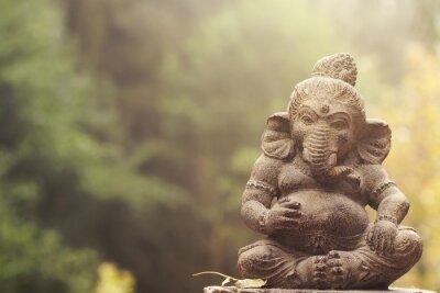 Canvas print ganesha deity stone statue