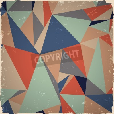 Canvas print Geometric grunge background in retro colors
