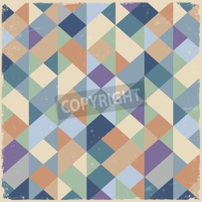 Canvas print Geometric retro background in pastel colors