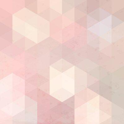 Canvas print Geometric retro background with grunge texture