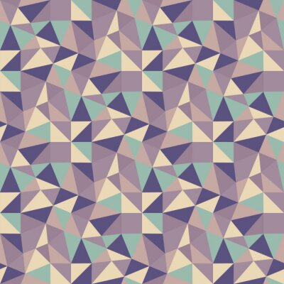 Canvas print Geometric triangles background. Mosaic.