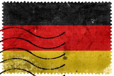 Canvas print Germany Flag - old postage stamp