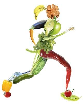 Canvas print gesunde Ernährung und sport