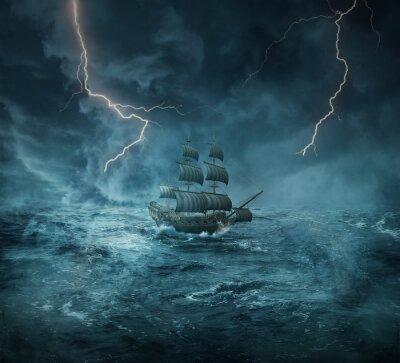 Canvas print ghost ship
