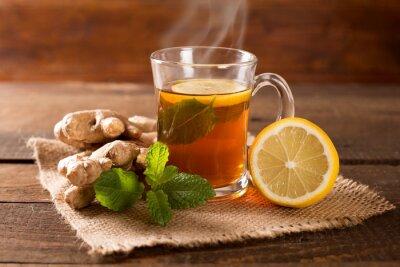 Canvas print ginger tea