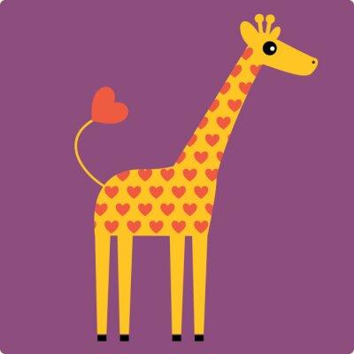 Canvas print giraffe vector