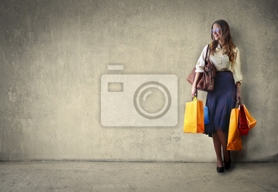 Girl carrying shopping bags