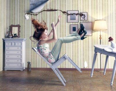 Canvas print girl falls