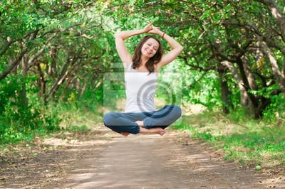 girl levitate