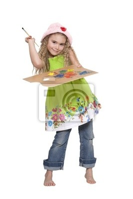 Canvas print Girl painter